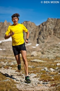 Ultrarunner Scott Jurek running in the Colorado high country